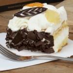Slagroom fototaart chocolade