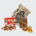 Jute zak snoepgoed klein