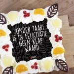 Felicitatie zonder taart..