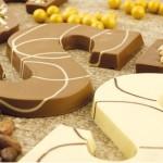 Chocoladeletter nougat praliné  - S